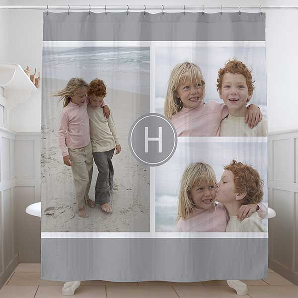 photo collage personalized shower curtain