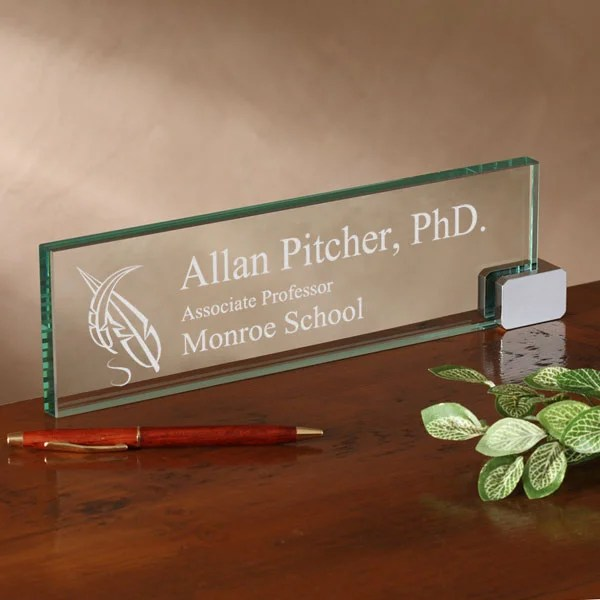 The Academic Personalized Desk Name Plate