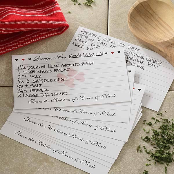 6640 Recipe For Love Personalized Recipe Cards