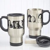 Photo Collage Personalized Stainless Travel Mugs - 7803