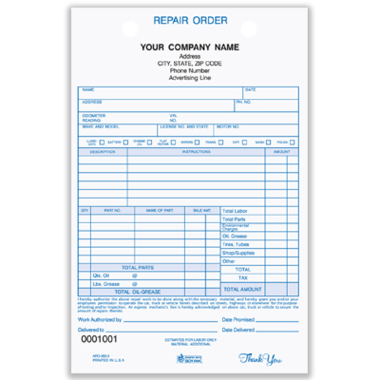 These work order templates can be downloaded for free. Auto Repair Register Form Aro 282 3 Personalized Forms
