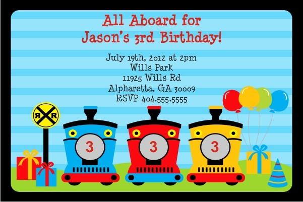 train invitation all aboard personalized party invites
