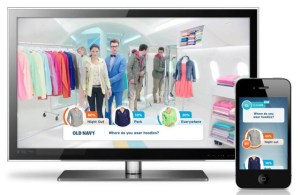 2nd screen shows/ads made for synchronous purchase. Bravo Old Navy