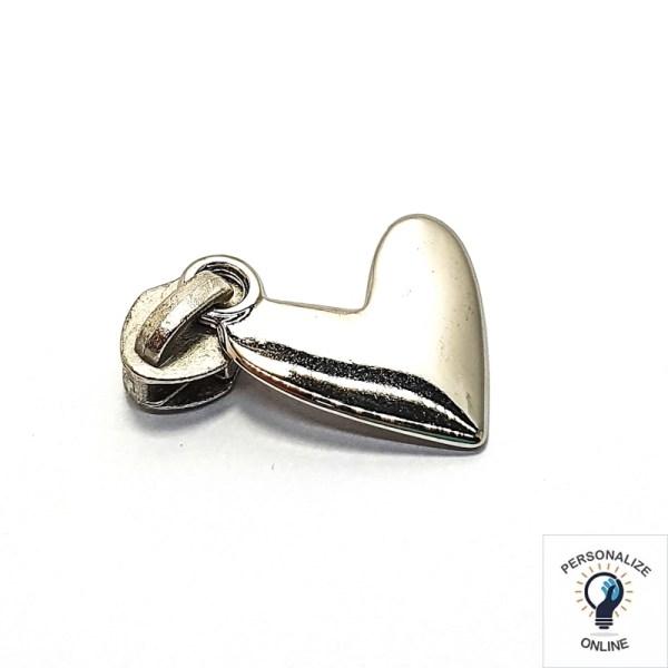 Cursor coração prata Nº 05