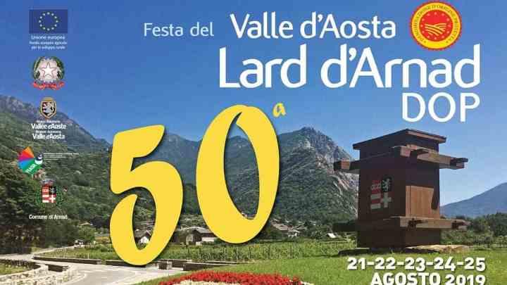 Festa del Valle d'Aosta Lard d'Arnad DOP 50a edizione dal 21 al 25 agosto 2019