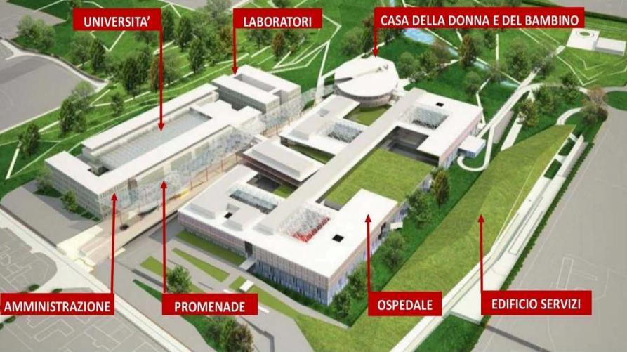 Regione Piemonte: Città della Salute, via libera, il nuovo ospedale di Novara si farà