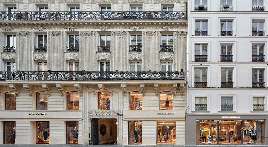 Apre a Parigi la rinnovata Boutique Dolce&Gabbana
