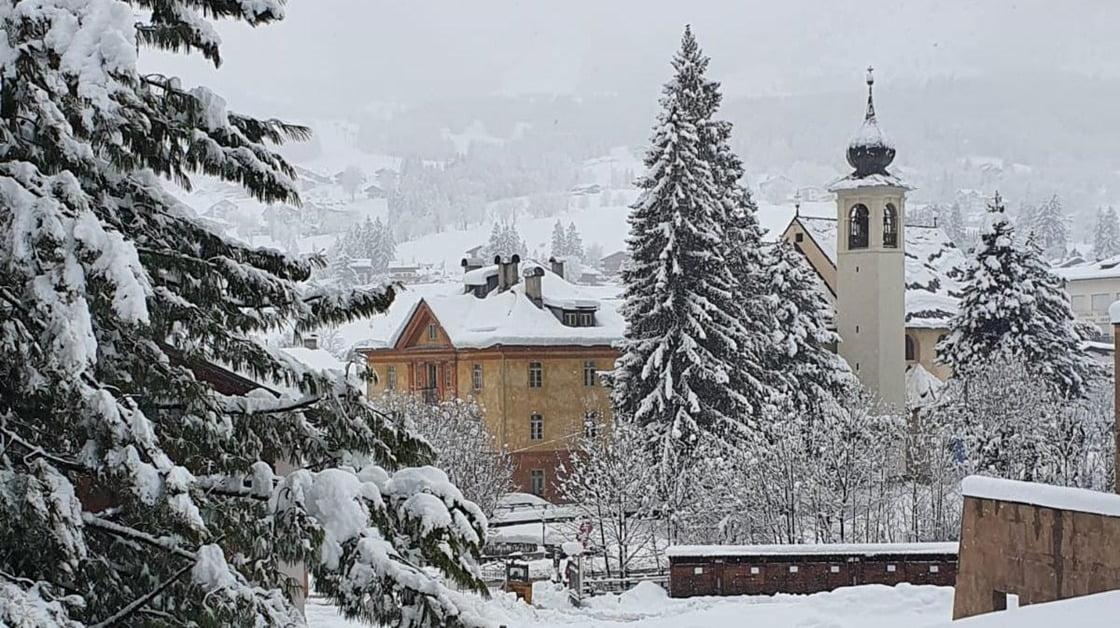 Cortina: primavera sulla neve