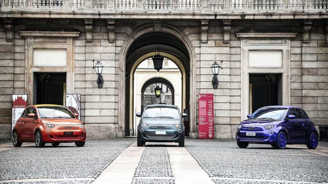 La nuova Fiat 500 a Milano