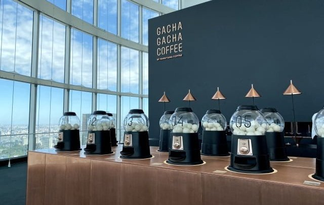 Il Gacha Gacha Coffee a Tokyo
