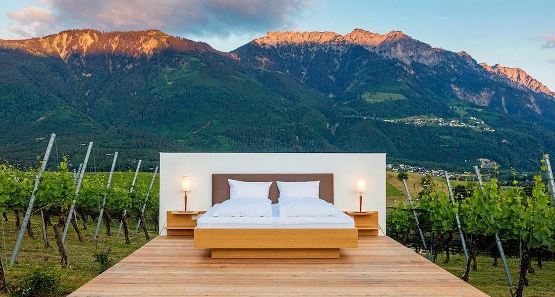 In Svizzera è possibile dormire all'aria aperta sotto il cielo stellato