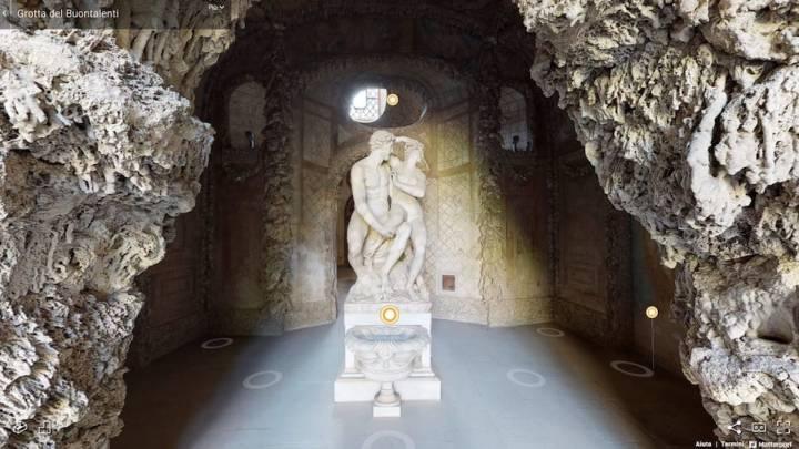 Grotta grande del Buontalenti: chiusa dal Covid aperta al Web