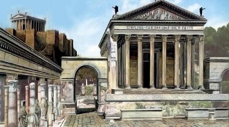 Il foro di Cesare a Roma