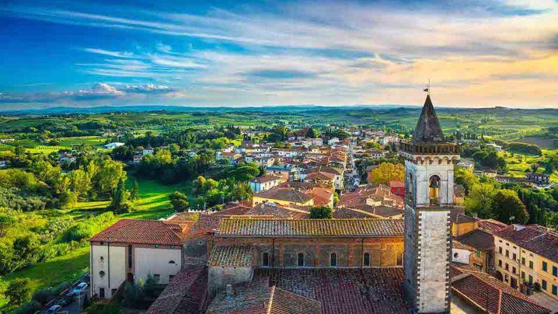 Il borgo di Vinci in Toscana: paese d'origine di Leonardo