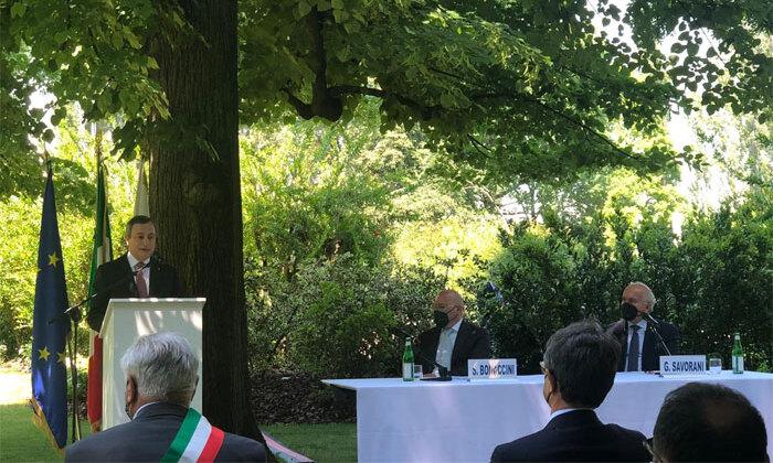 Mario Draghi incontra l'industria ceramica italiana