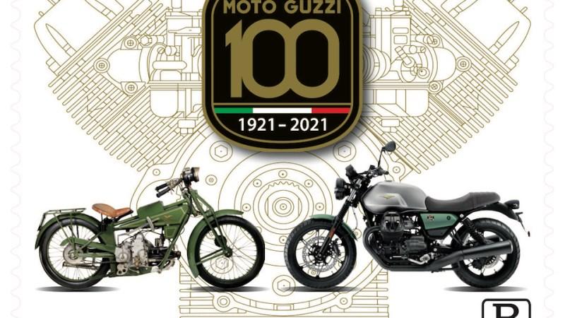 Emesso il francobollo celebrativo per i 100 anni di Moto Guzzi