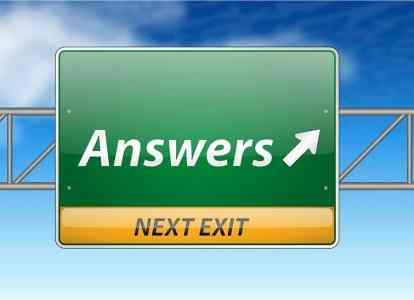 sign that shows answers next exit which implies that you will find answers to motivation on this page