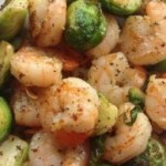 Garlic Shrimp and Brussels Sprouts