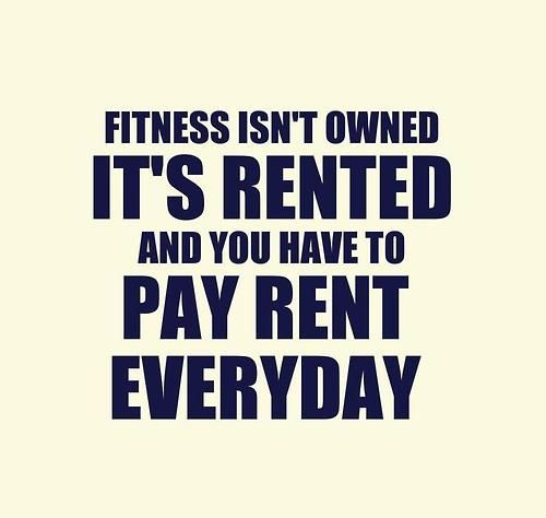 Health isn't owned, it's rented, and the rent is due every day.