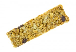 Here's a sweet chocolate chip granola bar, would you eat it?