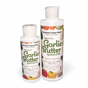 Personal Trainer Food's Sweet Garlic Butter Sauce is perfect on any veggie, and will help you burn fat.