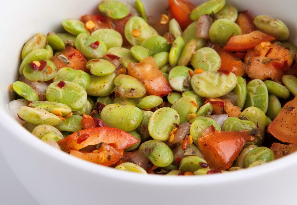 Diet right with tasty Personal Trainer Food Mediterranean Lima Beans to lose weight fast.