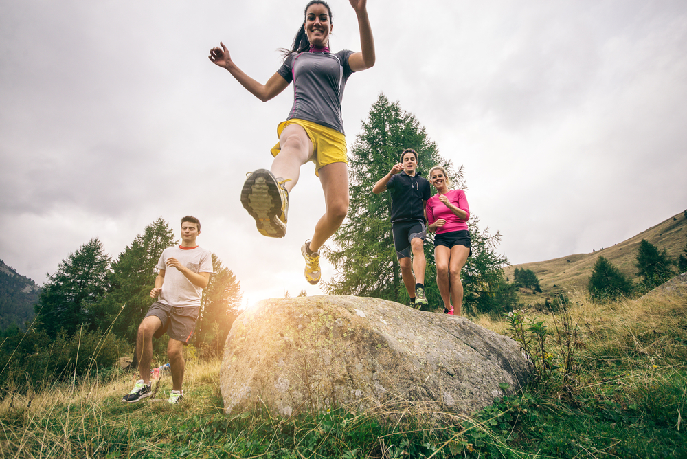 Hit the trail to activate your core muscles to lose more weight with Personal Trainer Food.