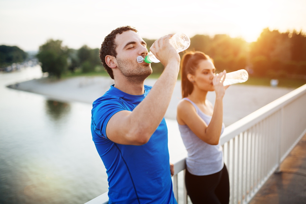 Water is essential to burning more fat and getting a kick ass exercise session in; drink up for flat sexy abs!