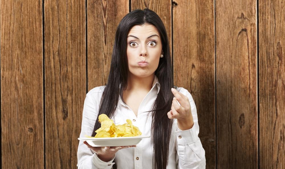 Image result for female eating snacks