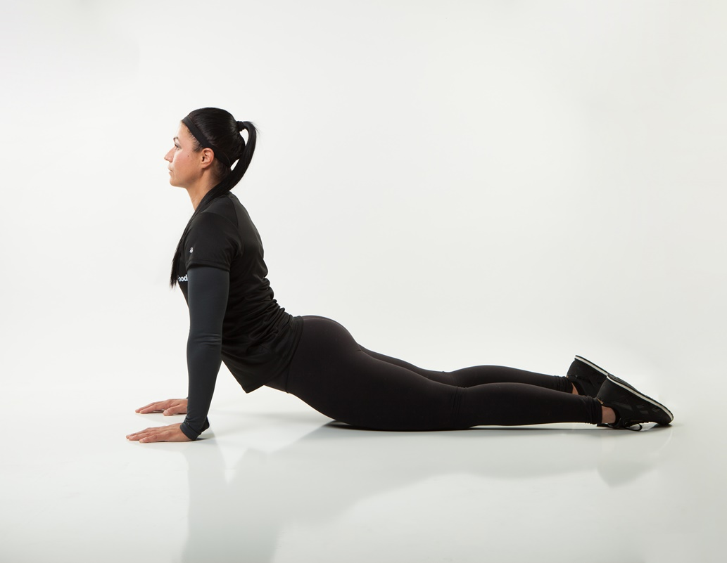 An updog or upward-facing dog is an excellent way to open your chest and torso and is one of the best stretches you can do.