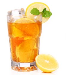 Black tea on ice is a cool tummy-toning drink to sip on.