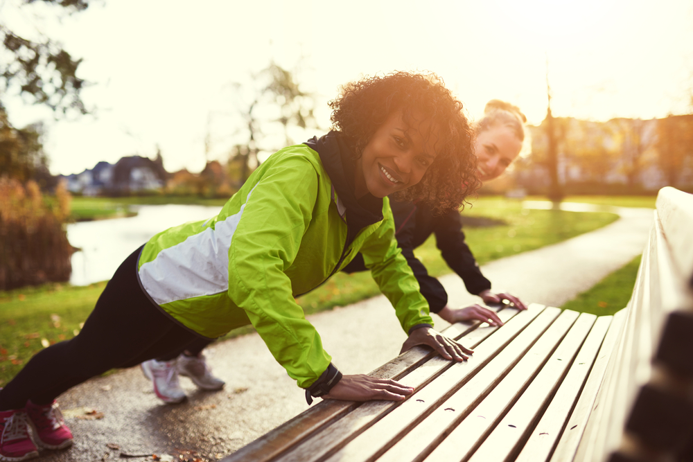 Yes, you can get a full-body park workout in, while your kids play. Tighten and tone your abs, arms, and legs with these fit tips from Personal Trainer Food.