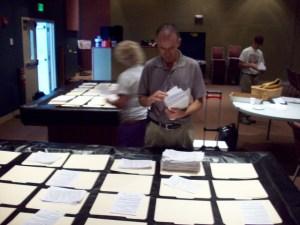 Volunteers Sorting Florida Personhood ProLife Petition