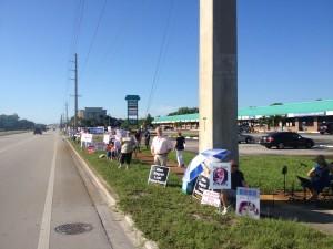 Planned Parenthood Protest Jensen Beach FL August 22 2015