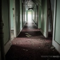 Room #3 - Looking down the hallway of the miners accommodations.