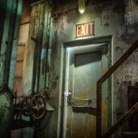 There is No Exit - The side exit inside an abandoned grain elevator in Colorado.