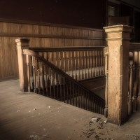 Walk the Halls - Main stairs of an abandoned school house.