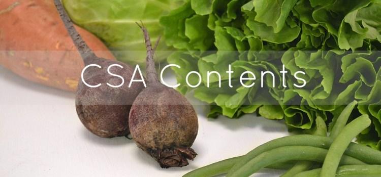 CSA Box Contents (#10)