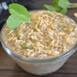 Coffee Mojito Overnight Oatmeal
