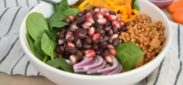 Raspberry Black Bean Power Bowl
