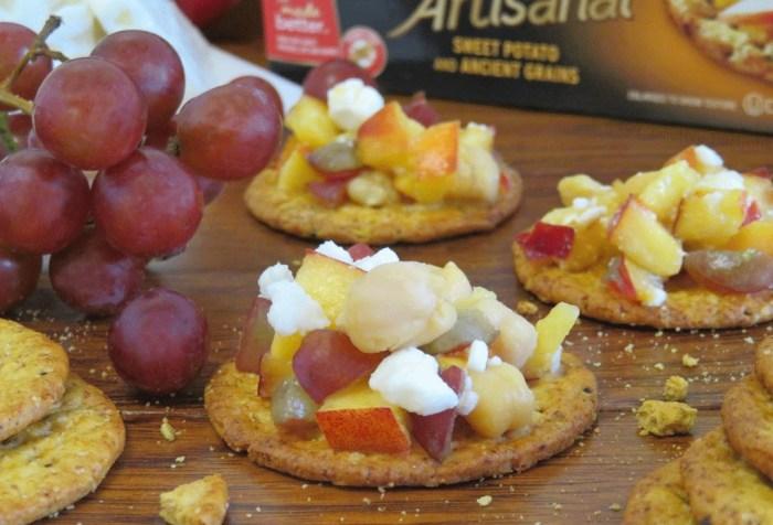 Feta and Nectarine Salsa Dip