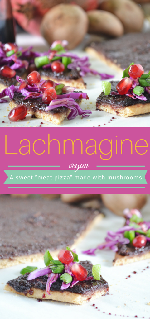 A #CrazyHealthy way to enjoy lachmagine, meatless. That's right. An easy vegan version of these traditional meat pies that tastes as good as the real thing. #AD