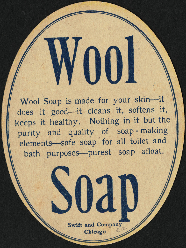 """Swift and Company made all kinds of crazy things. """"My mama used wool soap"""", Boston Public Library, Flickr, CC-By-2.0"""