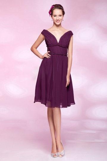 robe-de-soiree-grande-taille-violette-courte