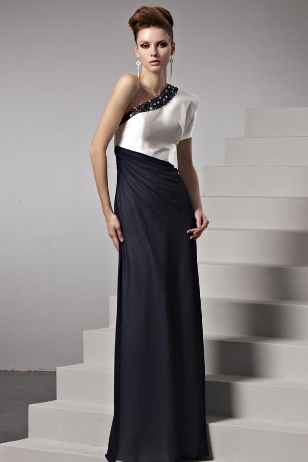 robe-de-soiree-longue-noire-et-blanche