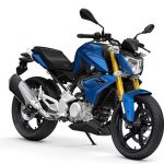 Tampak samping BMW G310R Strato Blue Metallic