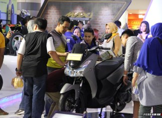 Yamaha Lexi di area display event Blue Core Yamaha Motor Show di Cibinong