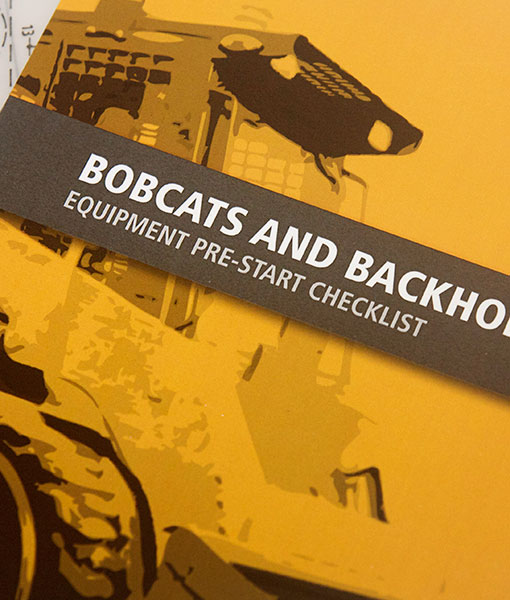 Bobcat and Backhoe Pre Start Checklist