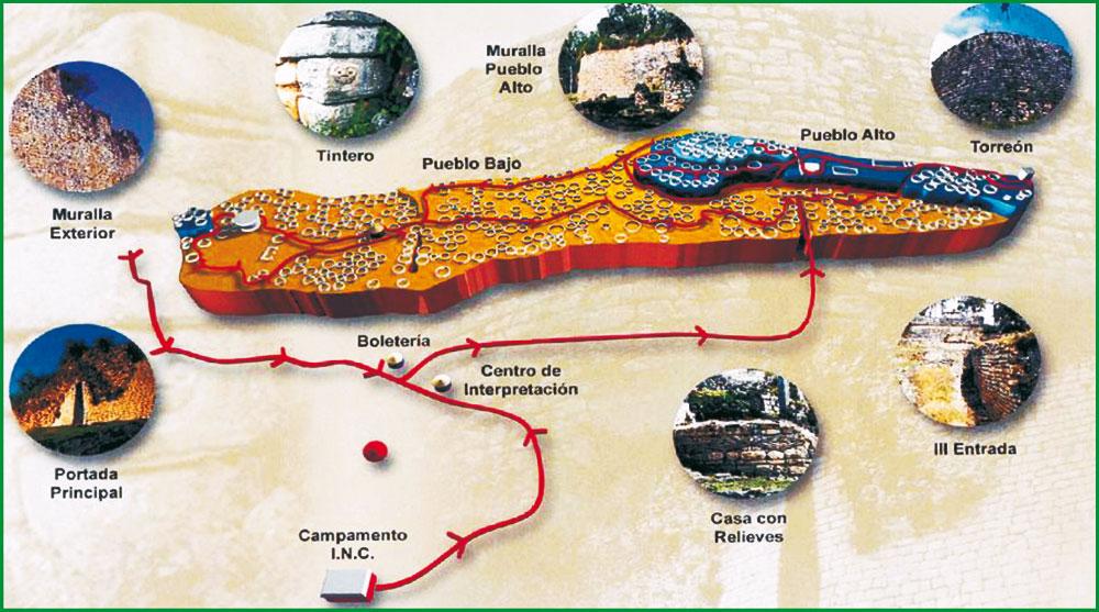 Fortaleza Plano de Kuelap (Hacer Click para ampliar)