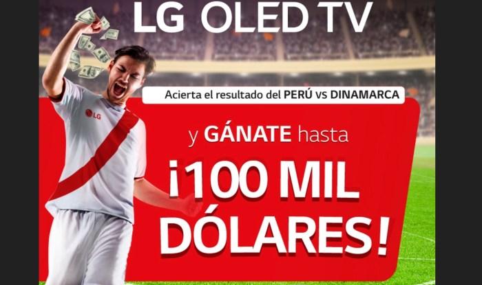 LG te regalará hasta 100 mil dólares si aciertas el resultado de Perú vs Dinamarca
